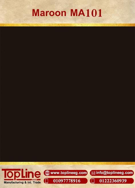 عينات كوريان من شركة توب لاين corian Samples from topline Maroon MA101