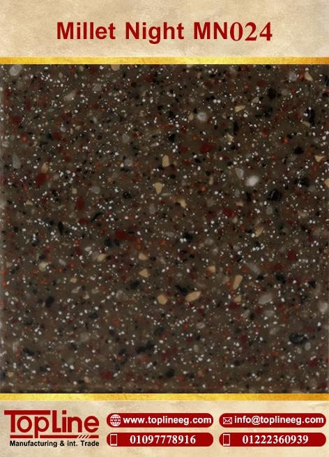 عينات كوريان من شركة توب لاين corian Samples from topline Millet Night MN024