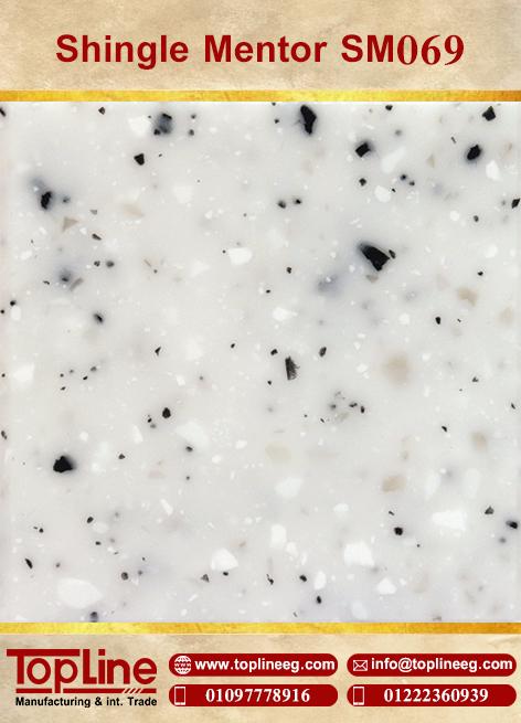 عينات كوريان من شركة توب لاين corian Samples from topline Shingle Mentor SM069