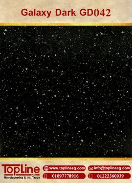عينات كوريان من شركة توب لاين corian Samples from topline Galaxy Dark GD042